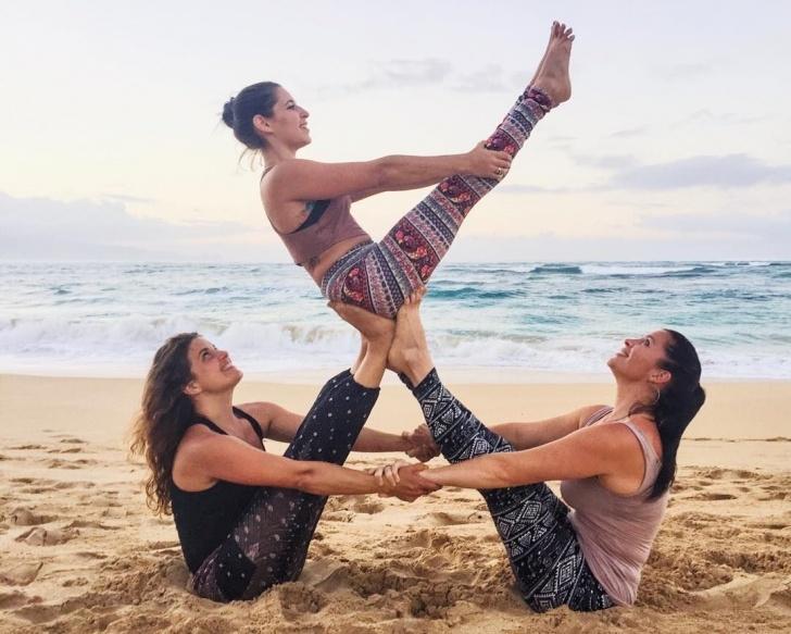 popular 3 person yoga poses beginner photo