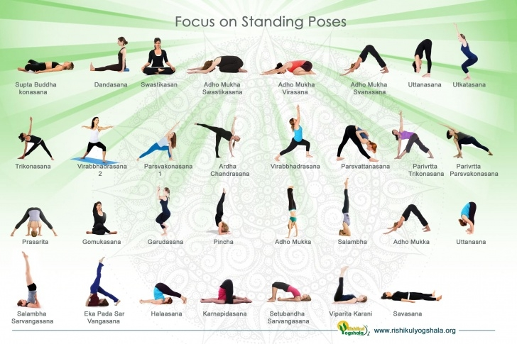 popular yoga asanas names with pictures photo