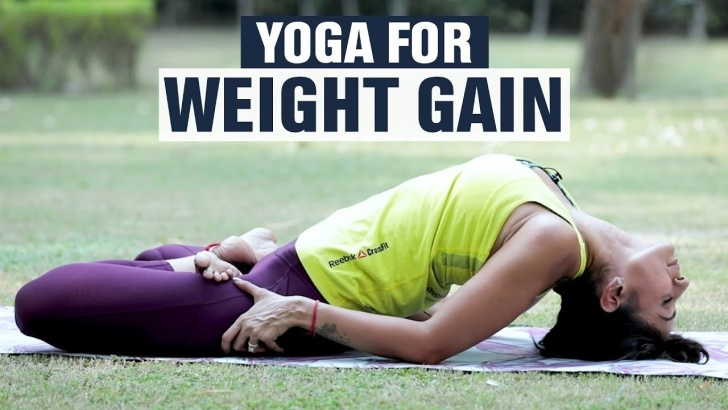popular yoga asanas to gain weight photos