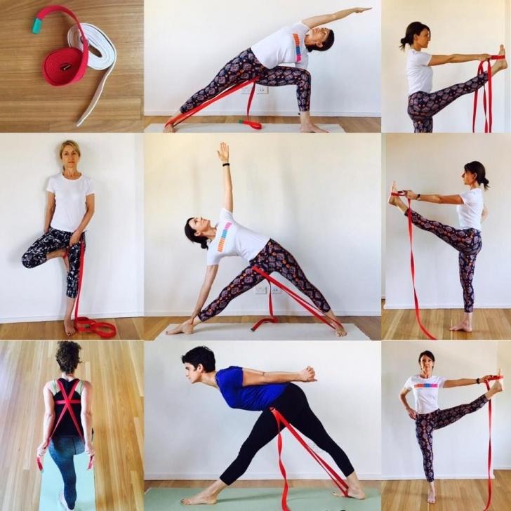 popular yoga exercises with strap photo