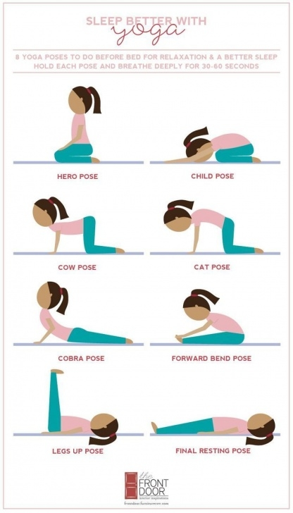 popular yoga poses before sleep photo