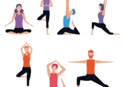 popular yoga poses clipart images