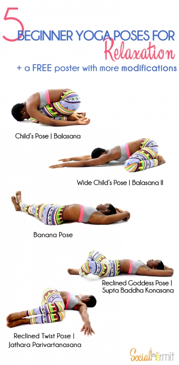 popular yoga poses relaxing picture