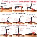 Popular Yoga Poses Shoulder Stand Gymnastics Images