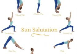 popular yoga poses sun salutation easy images