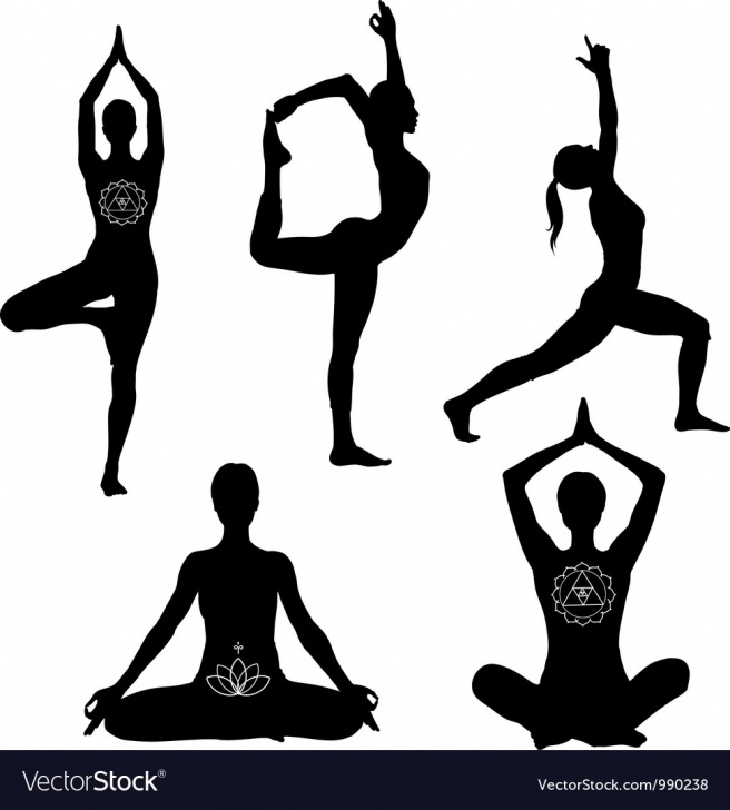 popular yoga poses vector picture