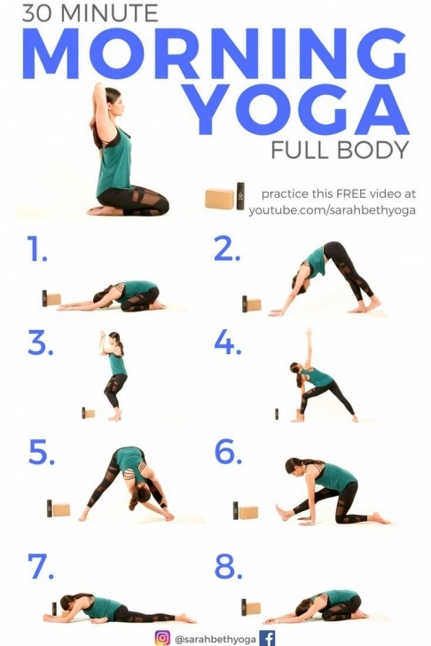 popular yoga stretches morning images