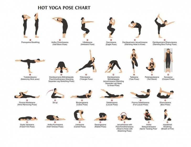 simple bikram yoga poses printable photos