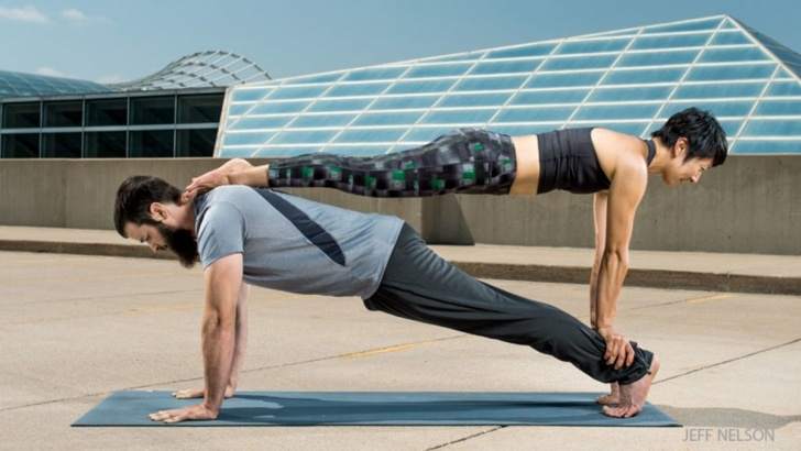 simple couples yoga poses for beginners image