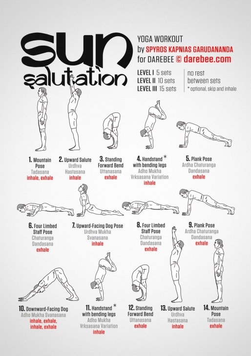 simple sun salutation postures image