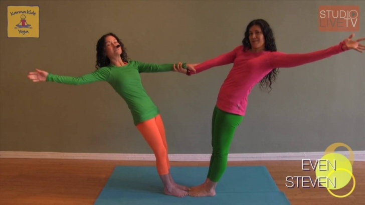 simple two person yoga poses for kids picture