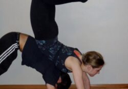 simple weird yoga poses for two picture