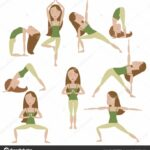 Simple Yoga Poses Cartoon Image