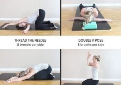 simple yoga poses for middle back pain photo