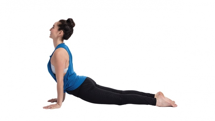 simple yoga poses upward dog exercise photos