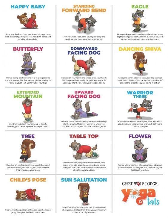 top standing yoga poses for kids images