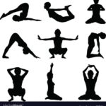 Top Yoga Poses Vector Picture